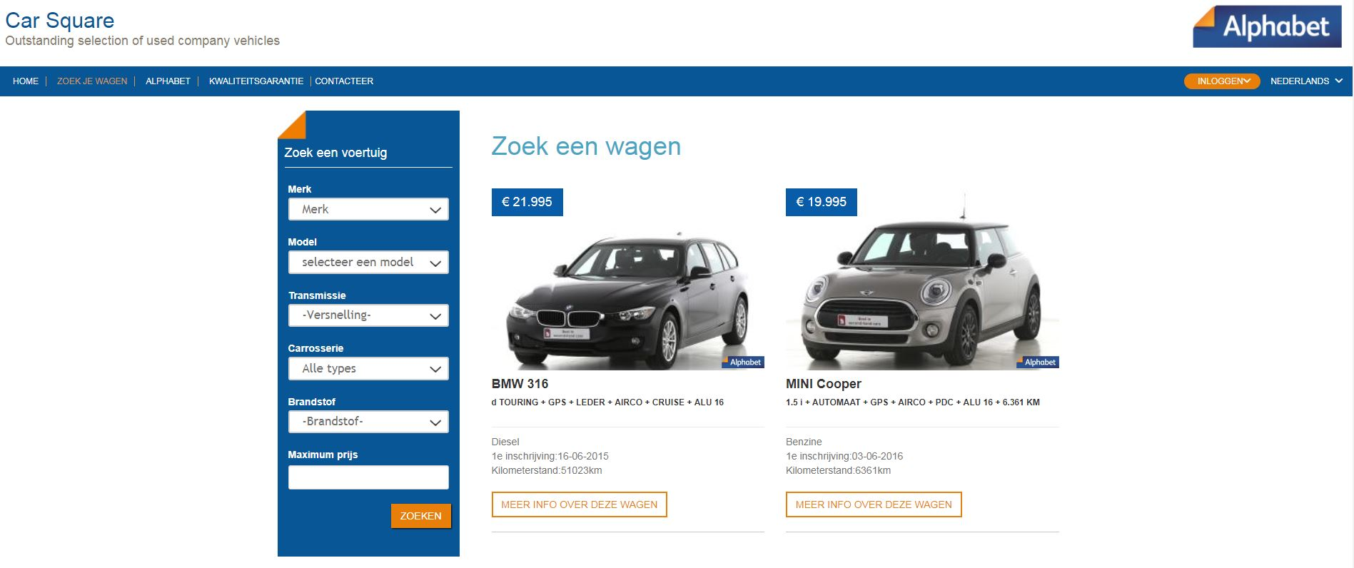 e97b1699b4 Alphabet Belgium launches new web tool to sell ex-lease cars