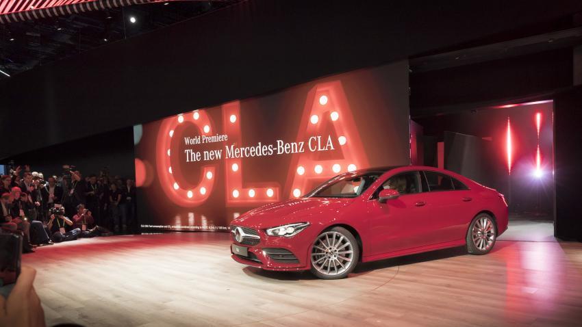 Mercedes CLA at CES 2019