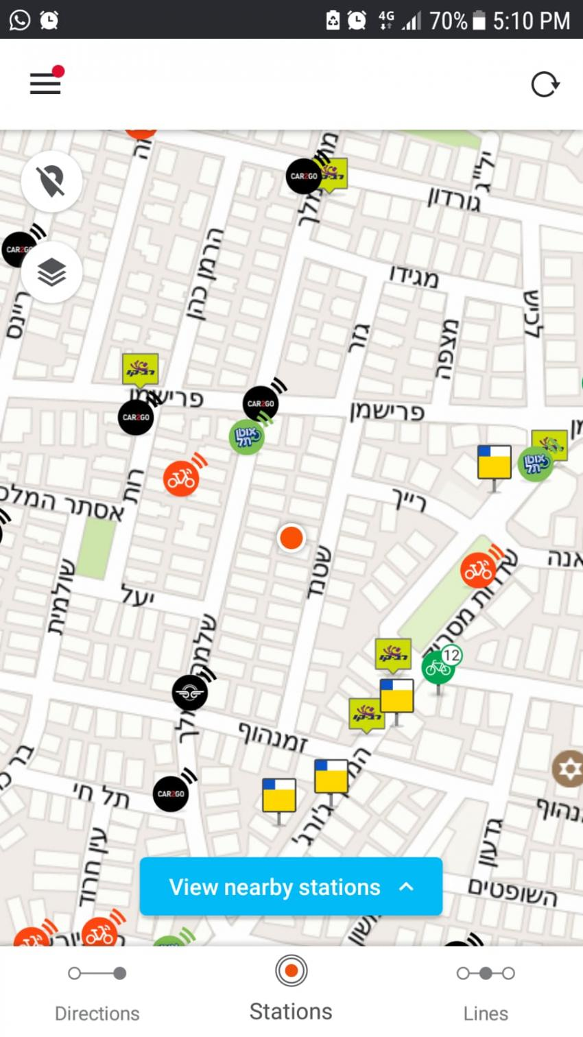 Image: A screenshot of an integrated MaaS Platform provided by GoTo in Israel.