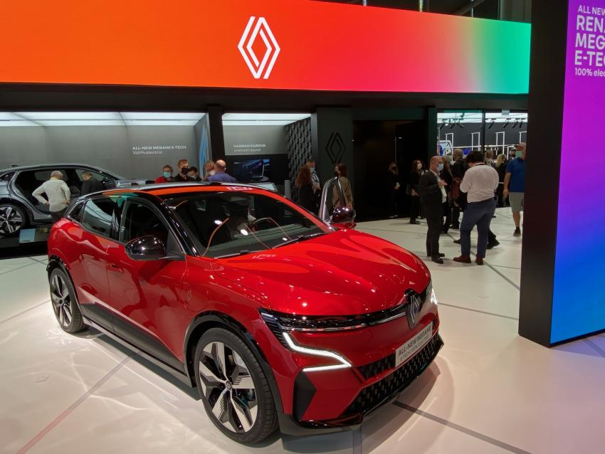 The Renault Megane e-Tech, revealed at IAA Mobility, Munich 2021