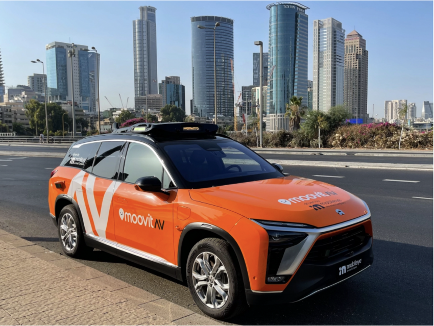 Mobileye and Sixt's robotaxi, operating under the Moovit brand