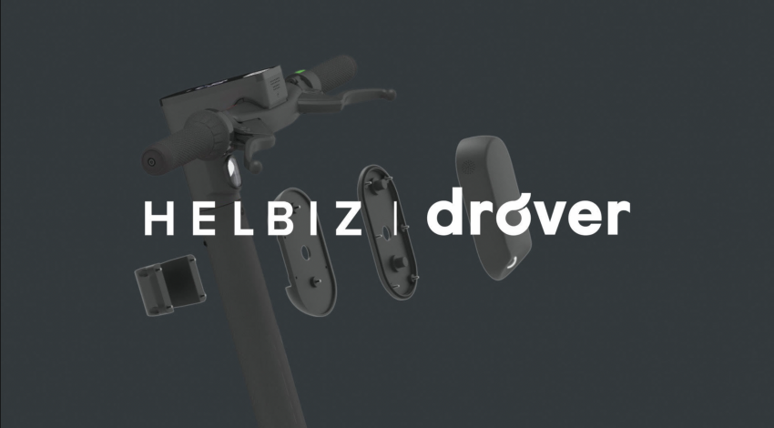 Image depicting micro-mobility company Helbiz and Drover AI