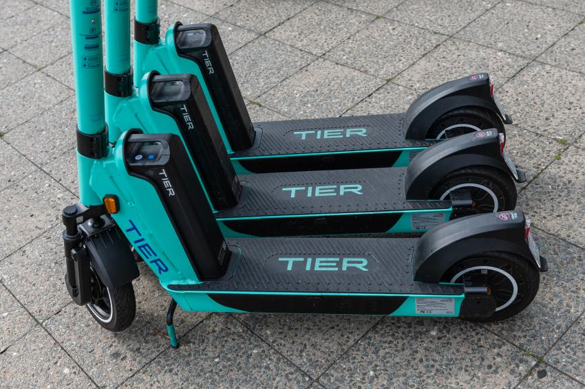 TIER eScooters, image courtesy of Shutterstock