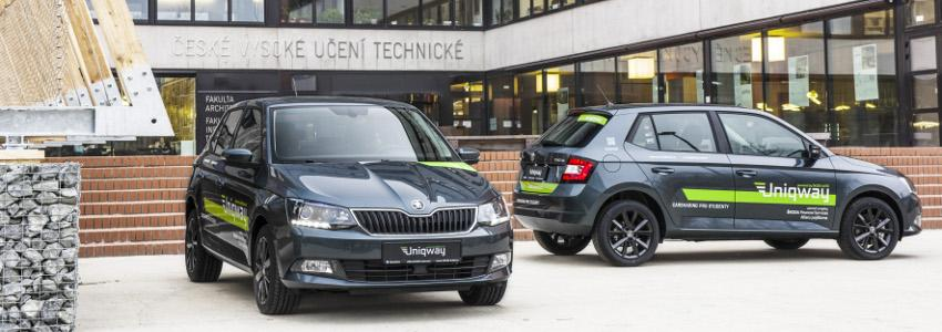 Skoda Auto And Skoda Auto Digilab Are Financing Uniqway A Car Sharing Project Developed By And For Students From Three Universities In Prague