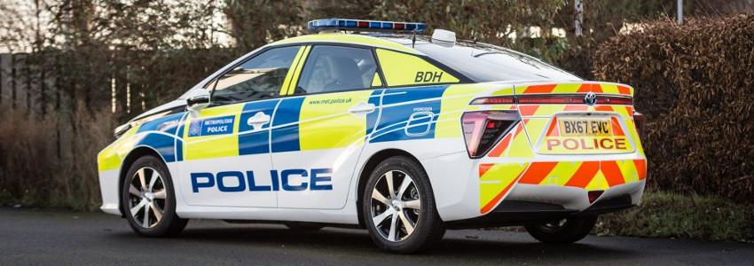 Toyota Mirai in police livery