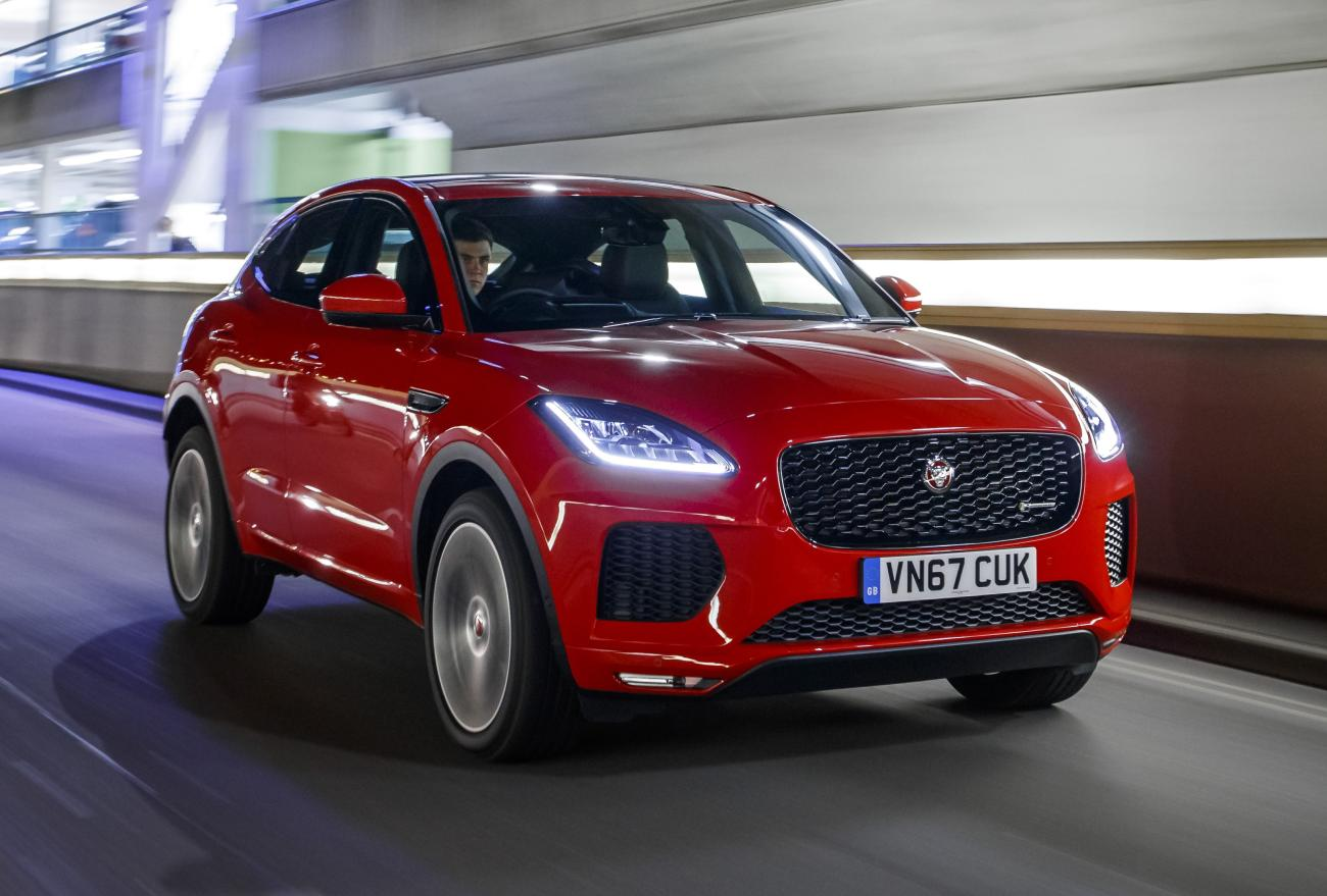 jaguar e pace gets top euroncap rating fleet europe. Black Bedroom Furniture Sets. Home Design Ideas