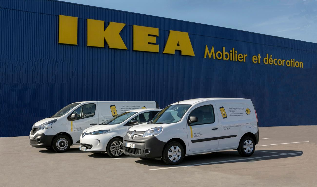 ikea france forms partnership with renault mobility fleet europe. Black Bedroom Furniture Sets. Home Design Ideas